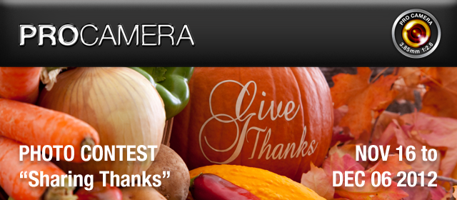 ProCamera Thanksgiving Contest