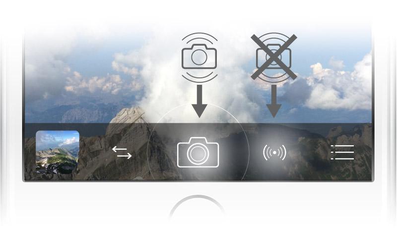 Der Hauptauslöser greift seit dem iPhone 5s standardmäßig auf die automatische Bildstabilisierung (AIS) des iOS zurück. Beim zweiten Auslöser rechts daneben ist AIS generell deaktiviert und es kommt ProCameras AntiShake zum Einsatz.