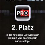 ProCamera_Award_DevCon_Urkunde_Ulm_2010