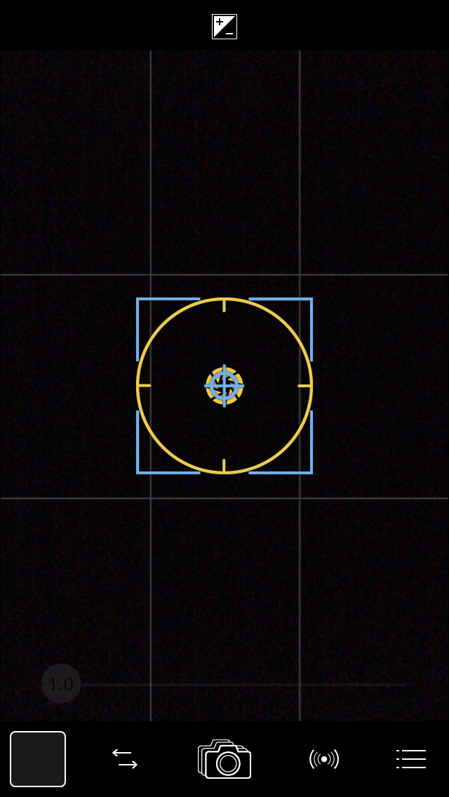 Focus & Exposure reticles black_bkgrnd