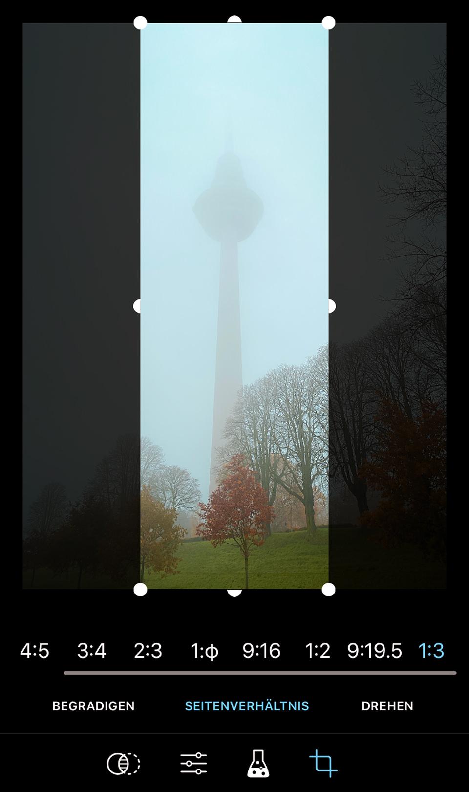 ProCamera 3x1 Crop Cut Studio Screenshot