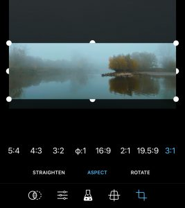 ProCamera Cut Studio Aspect Ratio Screenshot