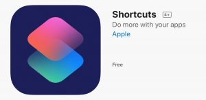 Apple free Shortcuts App for iOS