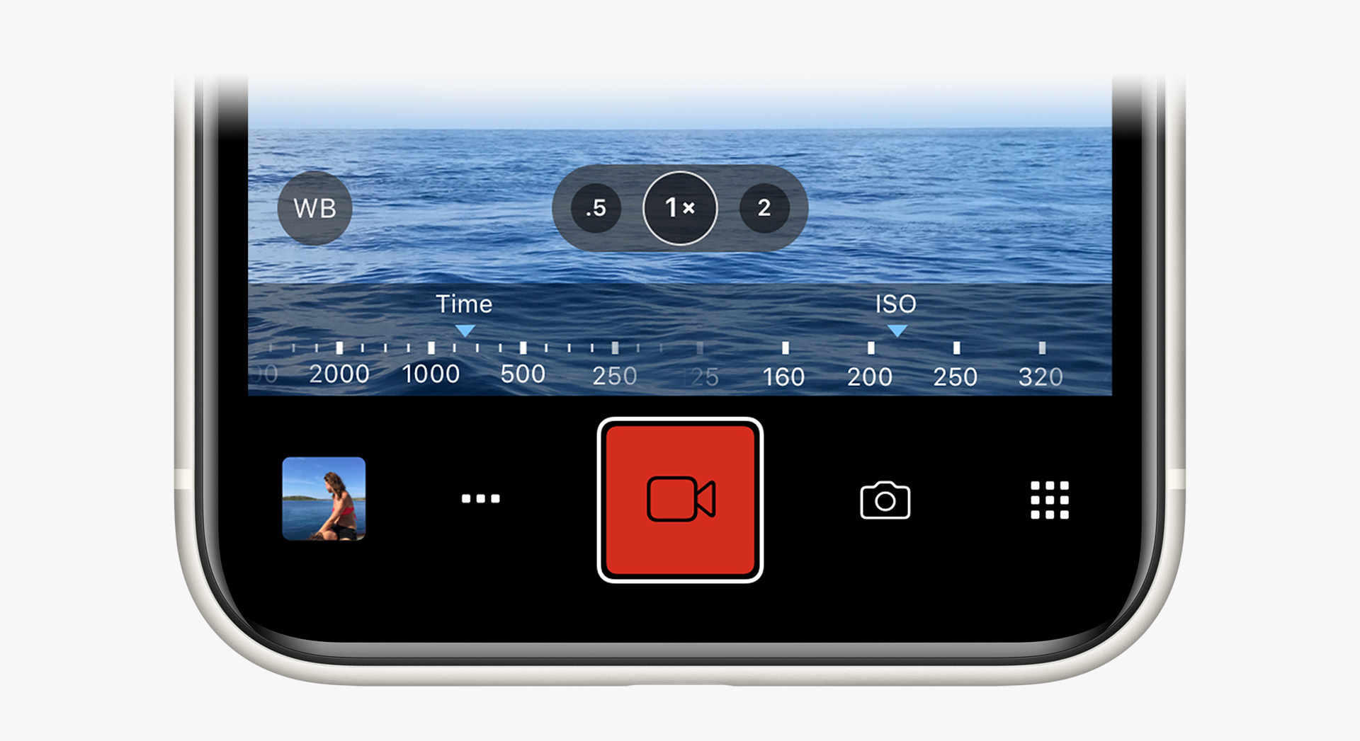 Manual Exposure Controls in ProCamera's Video Mode