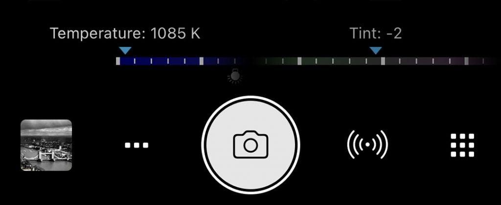 ProCamera Extended Color Temperature Range MWB